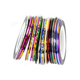 nail manicure home 2019 - Portable Stripe Easy Use Mini Decoration Home Wire Sticker Manicure Tool Multi-colored Art Nail Tape Gift Girl Craft dis