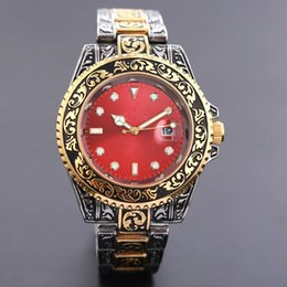 mens gold skulls bracelets UK - 2019 Reloj New Brand Retro Watch Men Skull Wristwatches Casual Dress Designer Mens Watches Automatic Day Date Gold Bracelet Clock Watch