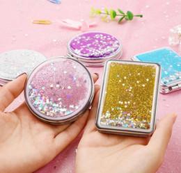 $enCountryForm.capitalKeyWord Australia - wholesale Mini Pocket Cosmetic Mirror Fashion Exquisite Shining Makeup Mirrors Compact Beauty Double-sided Mirror Magnifier mirror