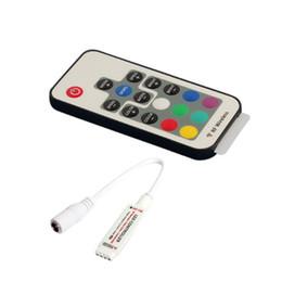 Newest DC 5- 12V 17 keys IR remote RGB LED controller best for 3528 5050 smd led lights strip on Sale