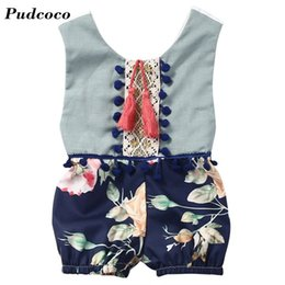 wholesale kids rompers suits NZ - New Fashion Baby Romper Clothing Body Suit Newborn Sleeveless Kids Boys Girls Rompers Baby Tassel Clothes Infantil