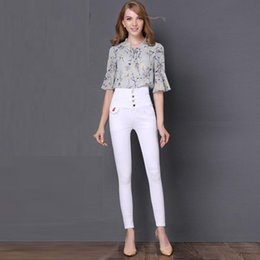 girls pencil jeans NZ - fashion elastic skinny jeans women high waist jeans young girls slim pencil pants cowboy style cute jeans sexy girl out wear
