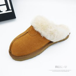 $enCountryForm.capitalKeyWord NZ - 2019 winter large size cotton shoes fashion real leather upper stitching warm snow boots personality wear slippers cotton boots