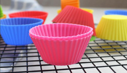 $enCountryForm.capitalKeyWord Australia - Hot Silicone Baking Cups Cake Cupcake Baking Pastry Kitchen Tools Liner Mold Muffin Round Cup Cake Tool Bakeware Fda Wholesale