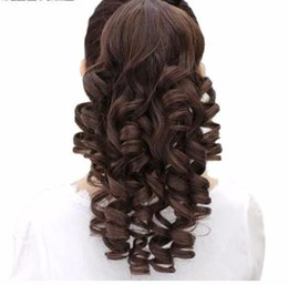$enCountryForm.capitalKeyWord UK - 2019 Long Kinky Curly Ponytail Drawstring Hair Heat Resistant Clip In Extensions Natural Fake Tail