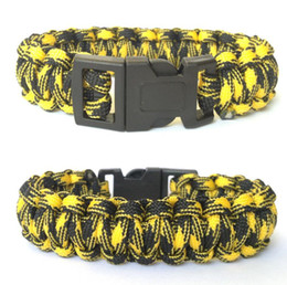 life saving bracelet 2020 - Fashion Men Self-rescue Survival Paracord 550 Parachute Cord Bracelets Outdoor Camping Sport Emergency Whistle Buckle Tr