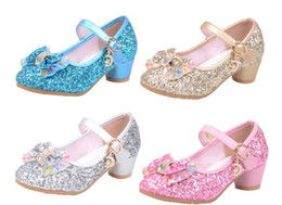 $enCountryForm.capitalKeyWord NZ - New Children Princess Pearl Beading Sandals Kids Flower Wedding Shoes High Heels Dress Shoes Party Shoes For Girls. Free shipping