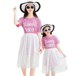 $enCountryForm.capitalKeyWord Australia - New Summer Family Mother Daughter outfit Women Girls outfits Long t shirt & Skirt 2pcs Sets Family outfits
