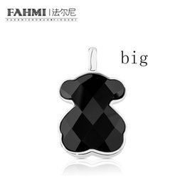 Moonstone diaMond online shopping - FAHMI Sterling Silver Faceted Black Agate Pendant Female Exquisite Jewelry Original Women s Simple Jewelry Big