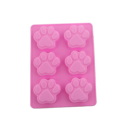 garden tools Canada - Home & Garden Silicone Mold Lovely Dog Paw Pattern Ice Cube Soap Fondant Decoration Silikon Form Cake Decorating Tools Kitchen Baking Tools