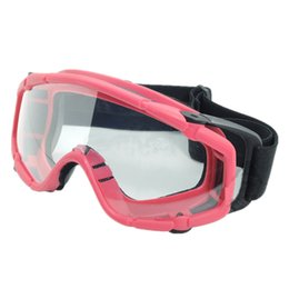 girls ski goggles NZ - Tactical skiing safety goggle SI-Ballistic Goggle Black DE pink