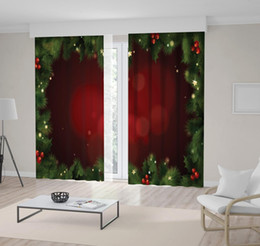 crystal wreath 2019 - Christmas Decoration Green and Red Wreath Pine Fir Tree Branches Ornaments Stars December Celebration Theme Curtain disc