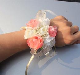 Bridal Brooch Flower UK - New Pattern Brooch Flowers Wrist Corsages Wristlet Prom Flowers Bride Bridesmaid Wrist Flower Designer Wristlet Wedding Bridal Accessories