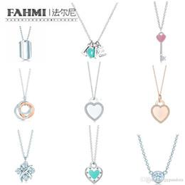 $enCountryForm.capitalKeyWord Australia - FAHMI Charm Gift 925 Sterling Silver Rose Gold Key Heart TIF Attractive Elegance Temperament Necklace World Jewelry