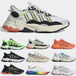 tone up shoes Australia - Running Shoes Pride For Ozweego Men Women Halloween Tones Cloud White Solar Yellow Green Orange Triple black Trainer Sports Sneakers 36-45