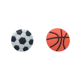$enCountryForm.capitalKeyWord Australia - 100pcs Basketball Soccer Football High Quality PVC Shoe Charms Buckles Fit Croc Shoes&Wristband Fashion Accessories Kids Gift Party Favors