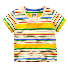 e24d5eaa3 OLEKID Summer 100% Cotton Brand Boys Shirts Striped Short Sleeve Boys T- shirts For 2-7 Years Children Boy Clothes Kids Tops
