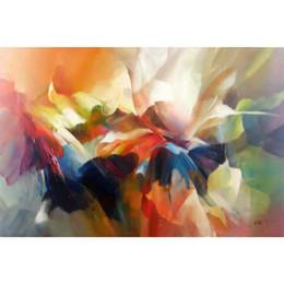 $enCountryForm.capitalKeyWord Australia - Handmade flower art Flower expression Canvas Oil painting for living room decor
