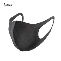 cycling anti pollution mask 2019 - 3 pcs half face masks Dustproof soft breathable anti pollution face mouth cover for racing cycling running hiking cheap