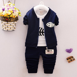 $enCountryForm.capitalKeyWord NZ - Baby Boy Clothes Spring Autumn Cartoon long sleeve t-shirt + casual long pants 2pc suits kids girls clothing Set Sport Tracksuit