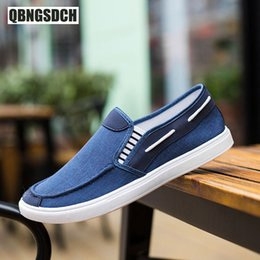 canvas one shoes NZ - New Men Flat Shoes Fashion One Pedal Lazy Lightweight Casual Shoes Round Head Low To Help Breathable Wild Men Canvas