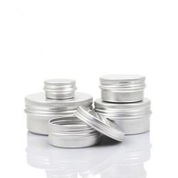 Makeup 5g Containers Australia - 5g 10g 15g 20g 30g 40g 50g 60g Aluminum Jars Empty Cosmetic Makeup Cream Lip Balm Gloss Metal Aluminum Tin Containers
