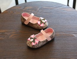 Wholesale Wholesale and retail Spring and Autumn Girls Shoes Newborn Sports Casual First Walker Shoes Infant Prewalker Princess shoes A15