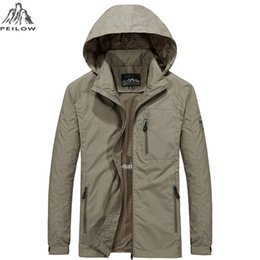 $enCountryForm.capitalKeyWord Australia - Peilow New Plus Size M~6xl Spring Autumn Mens Casual Military Hoodie Jacket Men Waterproof Clothes Windbreaker Coat Male C19041501