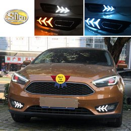Gloss Or Matt Style E4 12v Led Car Drl Daytime Running Lights Fog Lamp With Turn Off And Dimming Relay For Ford Focus 3 2012 Car Lights Car Light Assembly