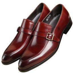 Tan Mens Dress Shoes Leather Australia - Fashion Black   Tan Loafers Wedding Shoes Mens Dress Shoes Genuine Leather Prom Shoes