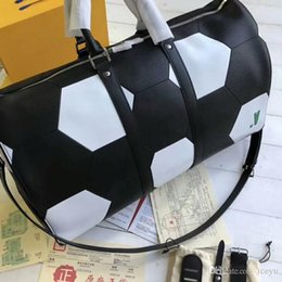 $enCountryForm.capitalKeyWord Australia - M52120 50cm KEEPALL BANDOULIERE Epi Cowhide Leather Duffel Bag,2018 World Cup Collection Travel Handbag,with Dust Bag