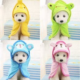 cartoon towel dog NZ - Hoomall Cute Pet Dog Towel Soft Drying Bath Pet Towel For Dog Cat Cute Cartoon Puppy Super Absorbent Bathrobes Clean Supply