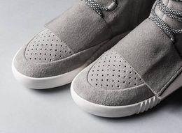 Boot Grey Australia - Designer boot men's glow dark grey triple black high ankle sneaker women's sneaker skate shoe size 36-46