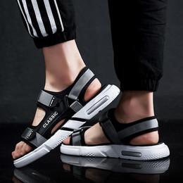 $enCountryForm.capitalKeyWord Australia - Mens Sandals Air Cushion Gladiator Sandals Men Summer Beach Shoe Casual Flat Mens Slippers Sandale Hommes