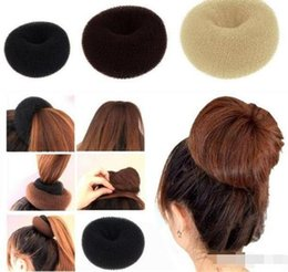 "Silicone Hair Clips Australia - ""1500Lots Womens Girls Hair Bun Donut Synthetic Scrunchie Hair Bun Cover Bun Cage Wrap Maker Hairpiece Clip in Hair Extension Brid"