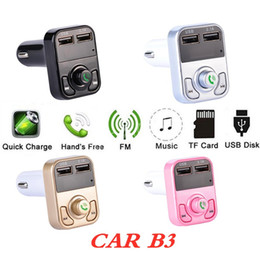 kit car box Australia - Multifunction Bluetooth CAR B3 with 2.1A Dual USB Car charger Support FM MP3 Player music Car Kit TF Card Hands-free retail box