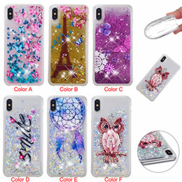 pretty phone covers 2019 - Pretty pattern Phone Silicone Cases Glitter Quicksand Back Cover for iPhone X XR XS MAX 8Plus 7Plus 6sPlus