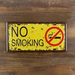"Coffee Housing Australia - Metal painting ""No smoking"" wall art decor poster iron plate Vintage house bar coffee retro tin signs 15*30 cm free shipping"