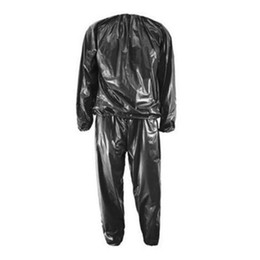 sauna suits weight loss Australia - Active Fitness Waterproof Pvc Sweat Sauna Suits Heavy Duty Weight Loss Anti -Rip Designer Tracksuit Men Sweatsuit Newl Trend