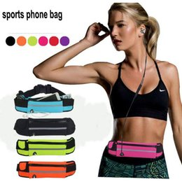 Phone case for gym online shopping - Outdoor sport Water bottles Waterproof Sport Running Gym Belt pouch phone bag case waist bags For iphone samsung huawei lg mobile