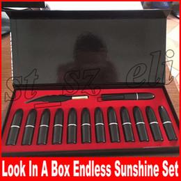 Matte eyeliner pens online shopping - Look in a Box Endless Sunshine Makeup Set Feather Eyeliner Pen Mascara Matte Lipstick in Set