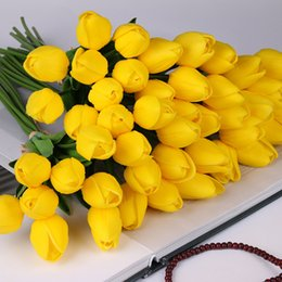 $enCountryForm.capitalKeyWord NZ - 10 Pcs beauty Real touch flowers latex Tulips flower Artificial Bouquet Fake flower bridal bouquet decorate flowers for wedding D19011101