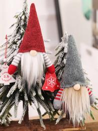 Рождество ручной работы шведский Гном скандинавских снимайте каждого Санта Ниссе скандинавской плюшевые Эльф игрушки настольный орнамент Xmas дерево украшения JK1910 на Распродаже