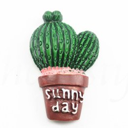 $enCountryForm.capitalKeyWord NZ - DIY Refrigerator Souvenir Magnetic Sticker Creative Simulation Cactus Plants Fridge Magnets Kawaii Cute Plants Decorative
