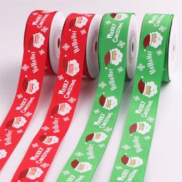logo ribbon printing Australia - wholesale 2.5cm gift packing use logo printed ribbon Supplier Custom party Christmas Gift Packing Pull Bow Wrapping Ribbon