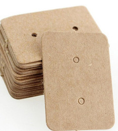 earring paper UK - Kraft Paper Earring Card Ear Studs Display Tag Label Jewelry Display Card Kraft Rectangle Earring Tag Cards