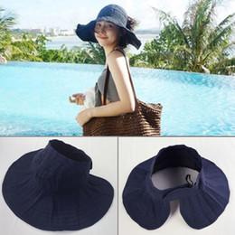 $enCountryForm.capitalKeyWord Australia - Luxury designer sun visors Hat female Parent-child visor summer wild UV outdoor sunscreen big face cover face sun hat