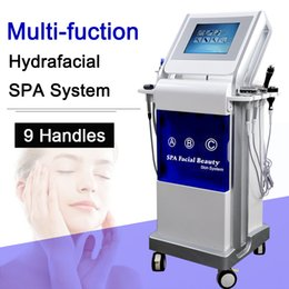 skin diamond machine NZ - 9 in1 Diamond Dermabrasion Microdermabrasion Machine Skin Scrubber Anti-age Care Equipment Water dermabrasion ultrasound wrinkle removal