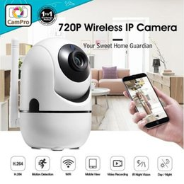 Wholesale 720P Mini Wifi IP Camera HD Cloud Camera Tilt Auto Tracking Motion Detection With Mic Multi function Camcorder For Older Baby