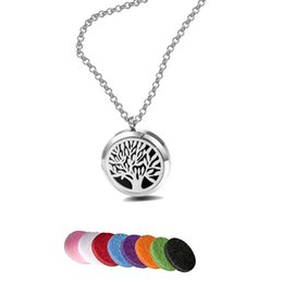 """Necklaces Pendants Australia - New Premium Aromatherapy Essential Oil Diffuser Necklace Locket Pendant 316L Stainless Steel Jewelry with 24"""" Chain and 6 Pads Mixed Styles"""